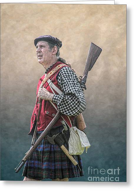 Frontier Art Greeting Cards - Highlander Soldier Portrait  Greeting Card by Randy Steele
