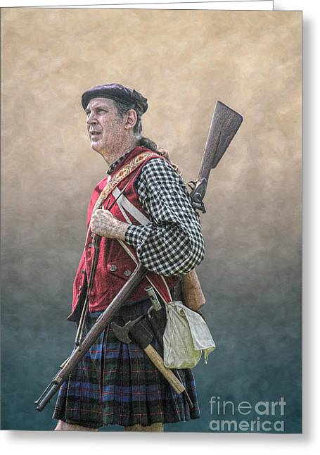 Highlander Soldier Portrait  Greeting Card