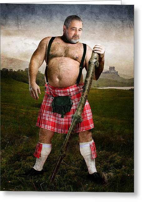 Highlands Greeting Card by Bear Pictureart
