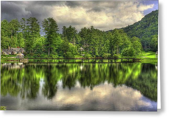 Highlands Reflections Highlands Country Club Highlands North Carolina Art Greeting Card by Reid Callaway