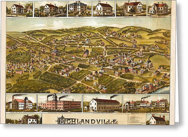 Highlandville Massachusetts Greeting Card by Donna Leach