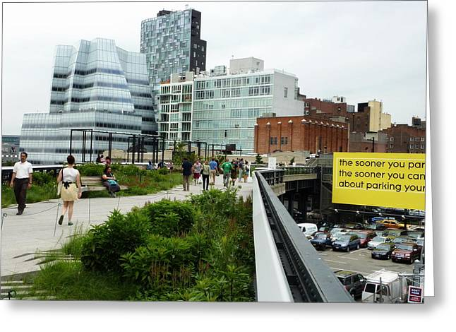 Highline Parking Greeting Card by Dan Stone