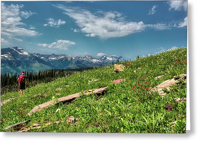 Highline Trail Adventure Greeting Card