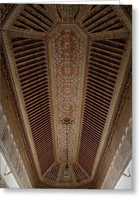 Highly Decorated Roof Of Palais Bahia Greeting Card