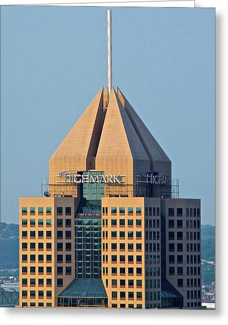 Highmark Building Greeting Card by Frozen in Time Fine Art Photography