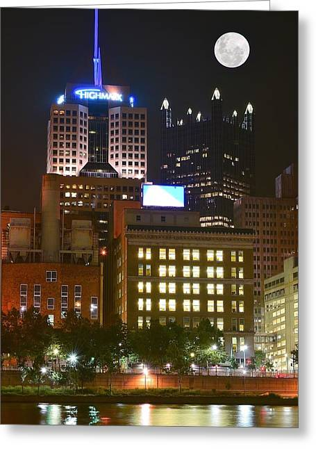 Highmark In Downtown Pittsburgh Greeting Card by Frozen in Time Fine Art Photography