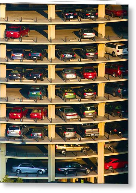 Highrise Carpark Greeting Card