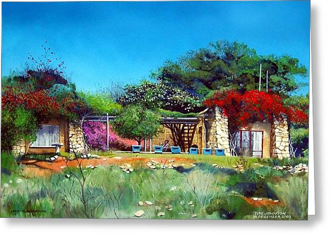 Greeting Card featuring the painting Highveld House by Tim Johnson