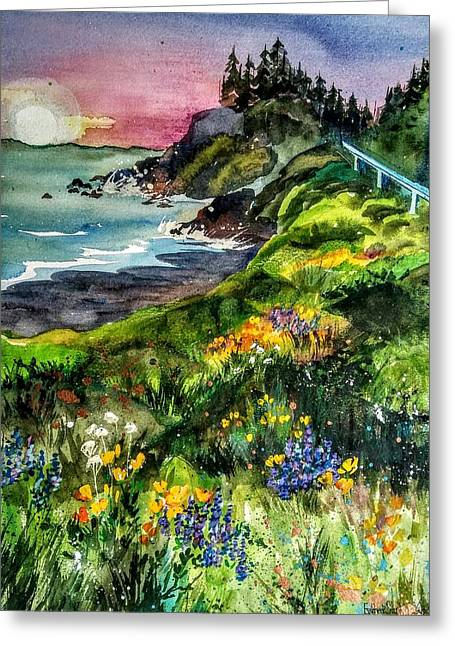 Highway  101 North Greeting Card