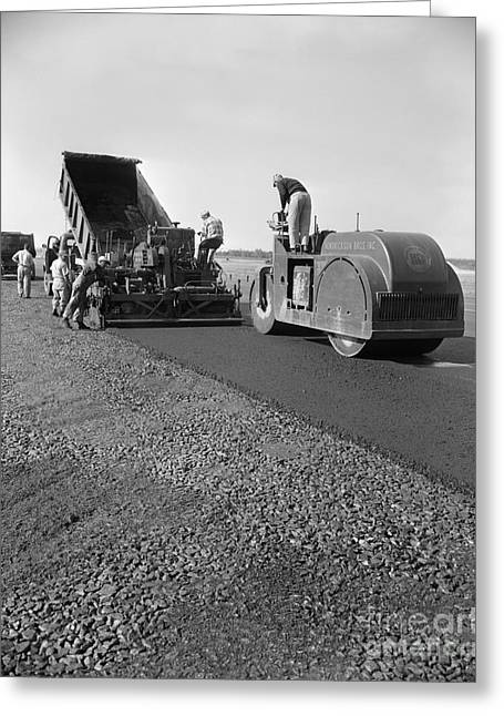 Highway Construction, C.1950-60s Greeting Card by H. Armstrong Roberts/ClassicStock