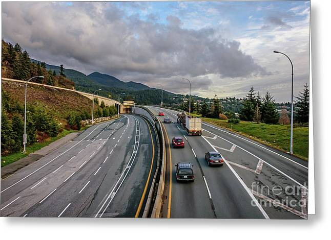 Highway Into The Mountains Greeting Card by Viktor Birkus