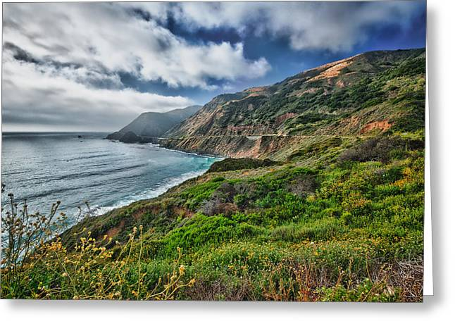 Highway Nr.1 - California Greeting Card by Andreas Freund