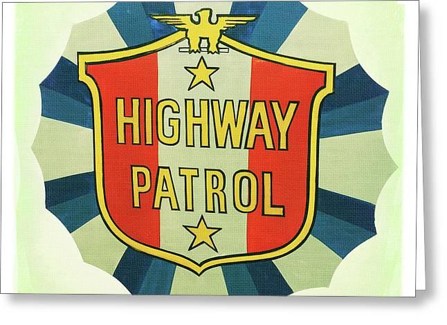 Highway Patrol Greeting Card