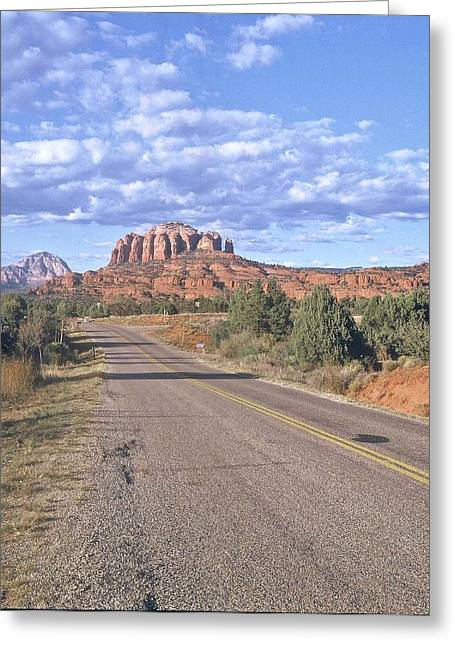 Greeting Card featuring the photograph Highway To Sedona by Gary Wonning