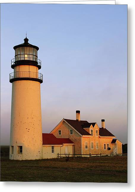 Higland Lighthouse Cape Cod Greeting Card by Roupen  Baker