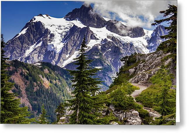 Hike To See Mt. Baker Greeting Card