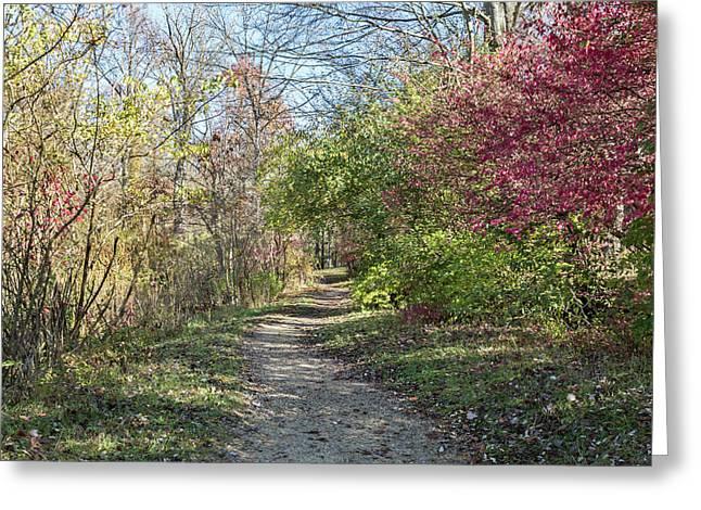 Hiking At Eagle Creek Greeting Card