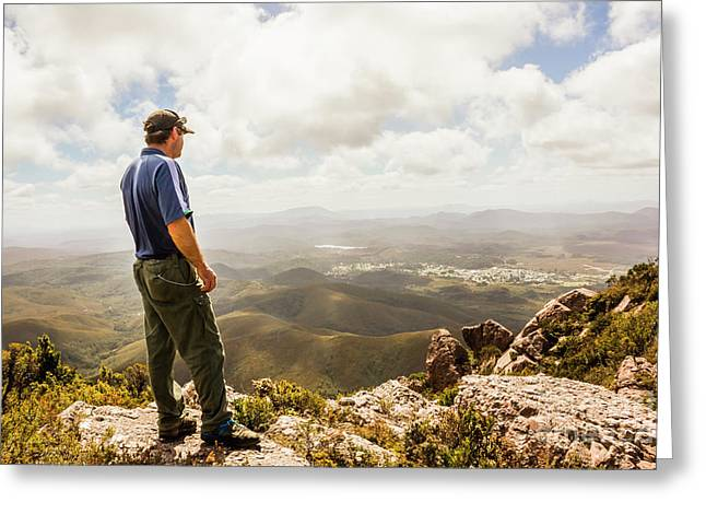 Hiking Australia Greeting Card by Jorgo Photography - Wall Art Gallery