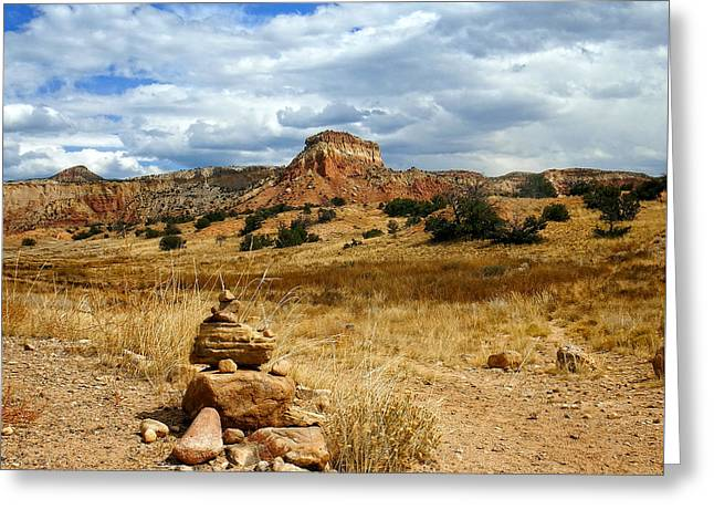 Hiking Ghost Ranch New Mexico Greeting Card by Kurt Van Wagner