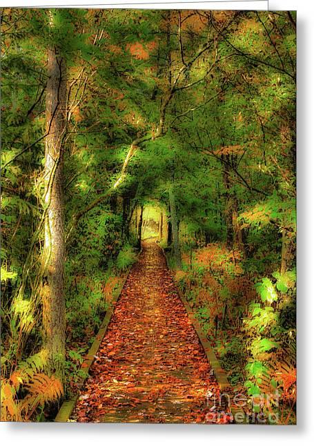 Greeting Card featuring the digital art Hiking In Paradise - West Virginia Ap by Dan Carmichael