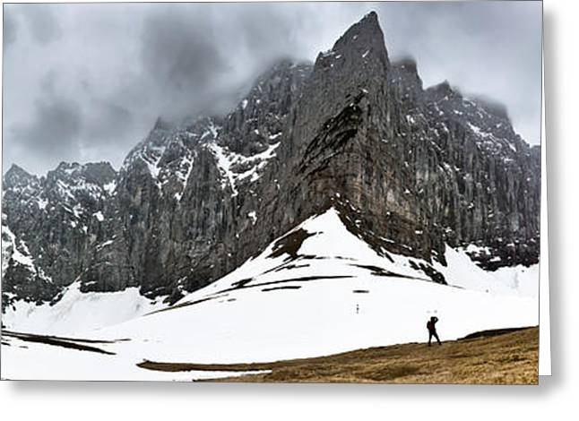 Hiking In The Alps Greeting Card