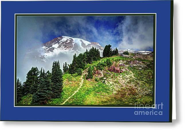 Hiking Rainier Greeting Card