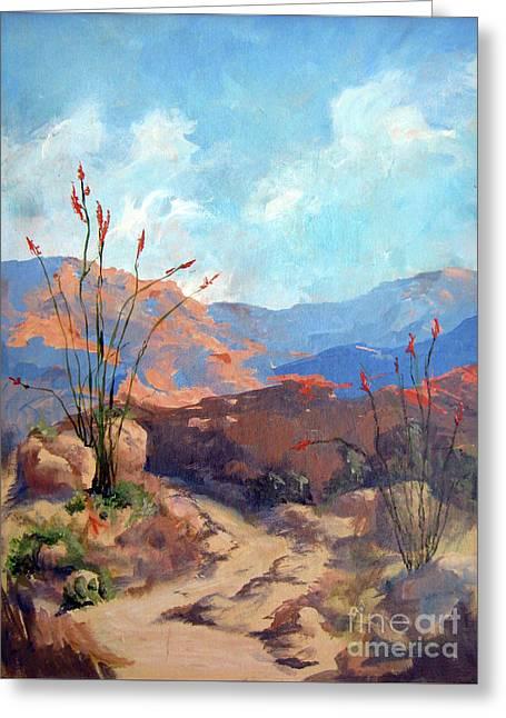 Hiking The Santa Rosa Mountains Greeting Card
