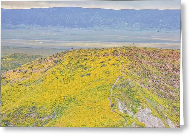 Greeting Card featuring the photograph Hiking The Temblor by Marc Crumpler