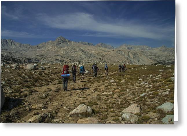 Hiking Through Humphrey Basin Greeting Card