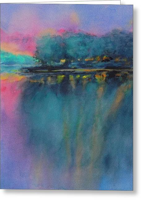 Hill Country Abstract No 5 Greeting Card