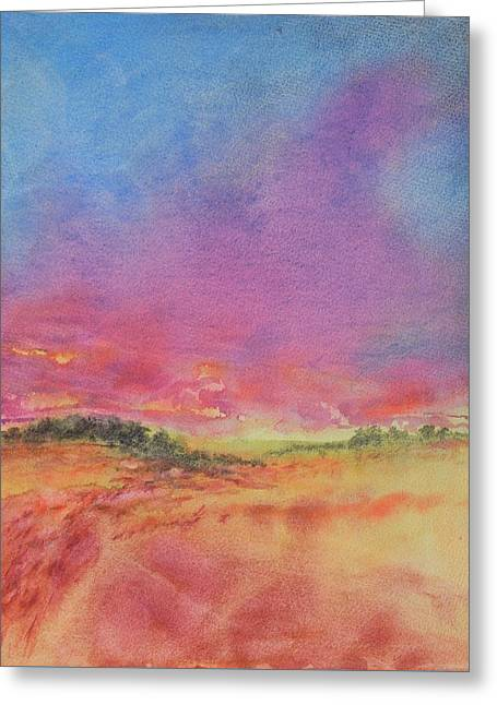 Hill Country Abstract No 8 Greeting Card