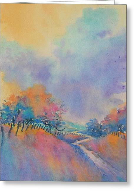 Hill Country Back Road No 1 Greeting Card