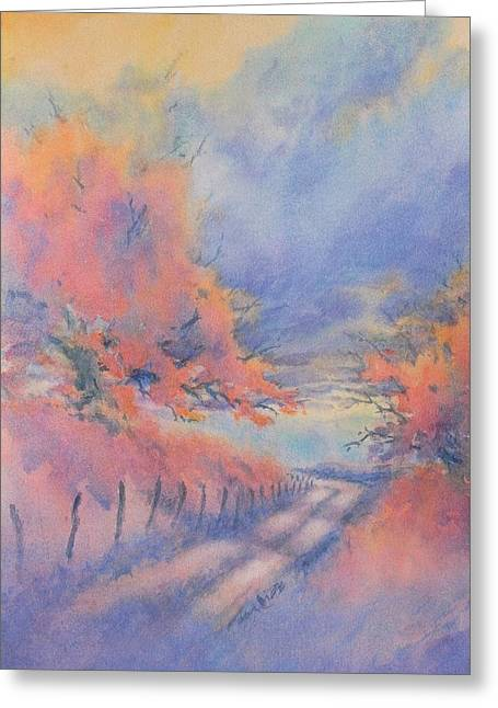 Hill Country Back Road No 3 Greeting Card