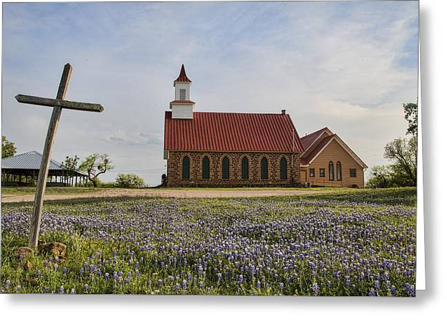 Hill Country Cross Greeting Card
