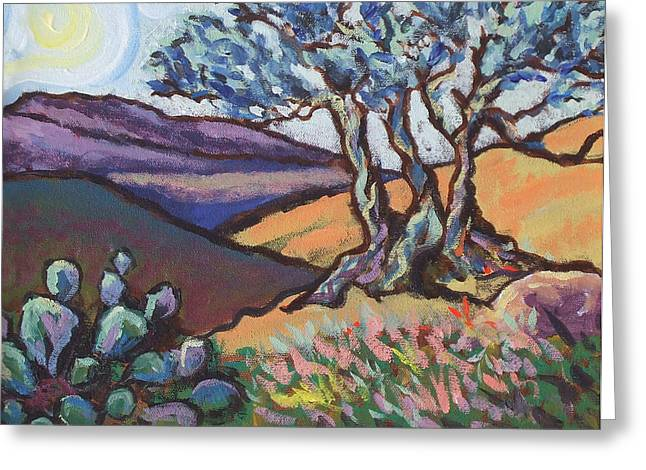 Hill Country Dusk Greeting Card