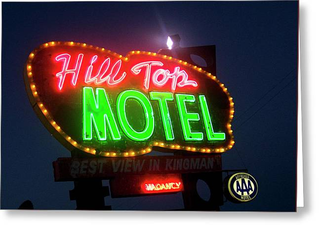 Greeting Card featuring the photograph Hill Top Motel by Matthew Bamberg