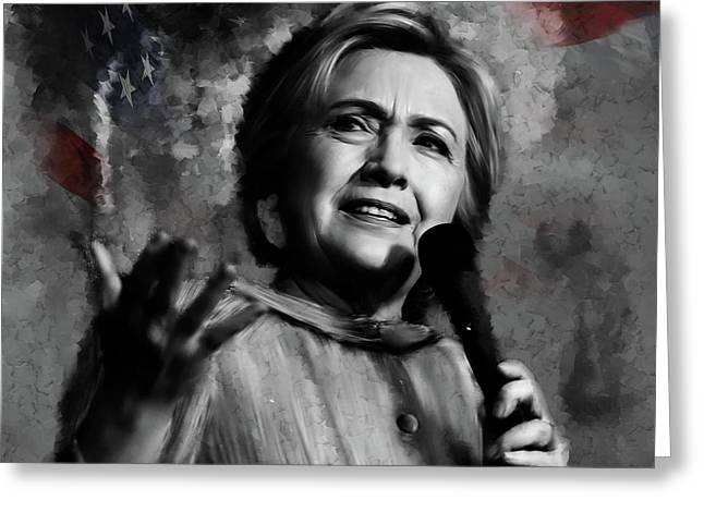 Hillary Clinton  Greeting Card by Gull G