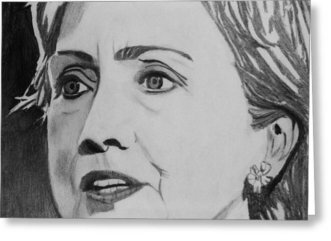 Hillary Clinton Greeting Card by Kenneth Regan