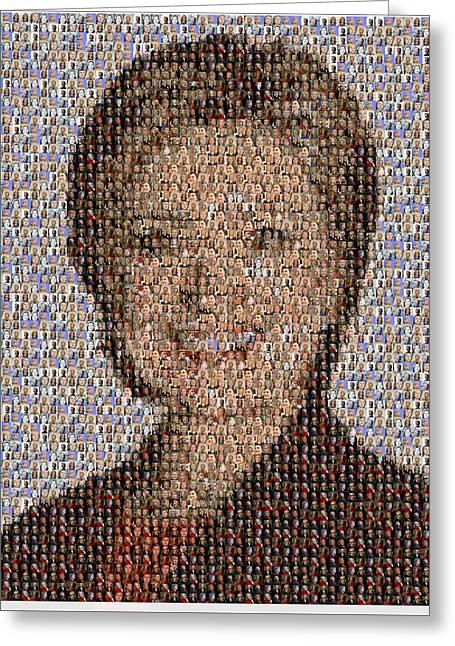 Hillary Mosaic Greeting Card