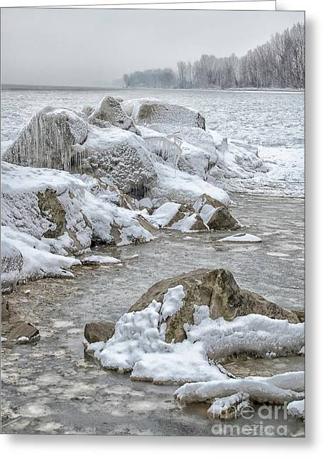North Beach On A Winters Day By Dave Greeting Card