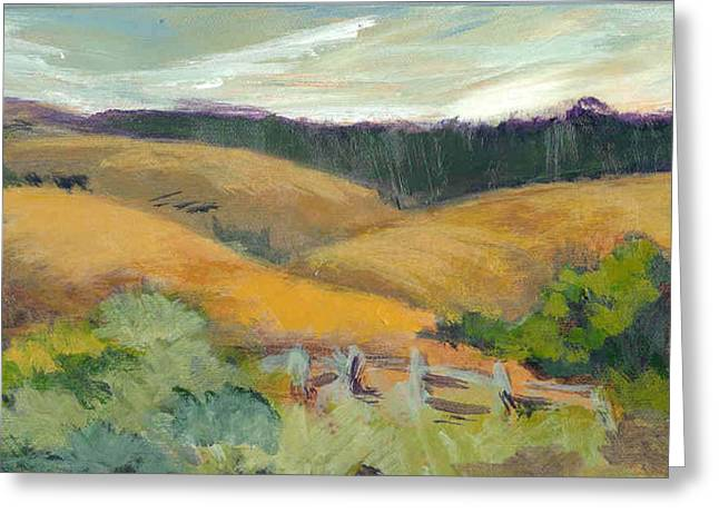 Hills Above Silicon Valley Greeting Card by Barbara Moore