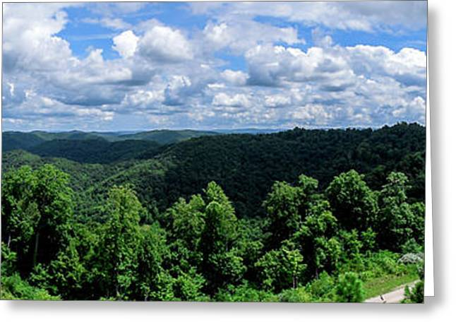 Hills And Clouds Greeting Card