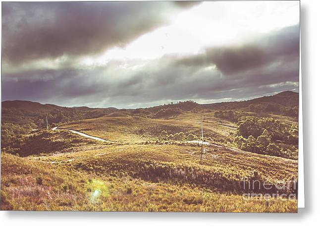 Hills And Outback Tracks Greeting Card