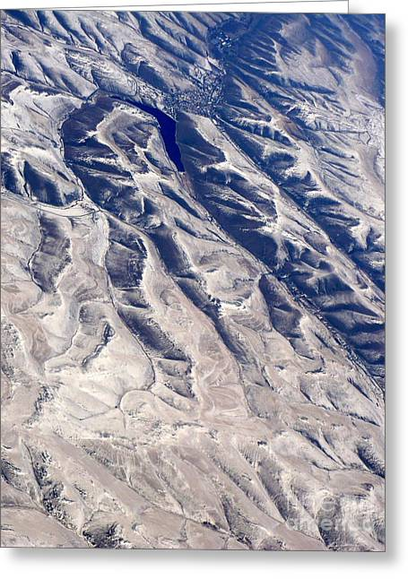 Hills And Valleys Aerial Greeting Card by Carol Groenen