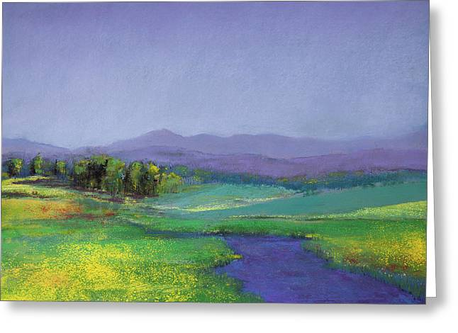 Hills In Bloom Greeting Card by David Patterson
