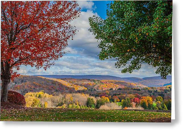 Hills Of Autumn Greeting Card