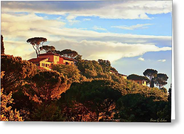 Hills Of Florence Greeting Card by Brian Lukas