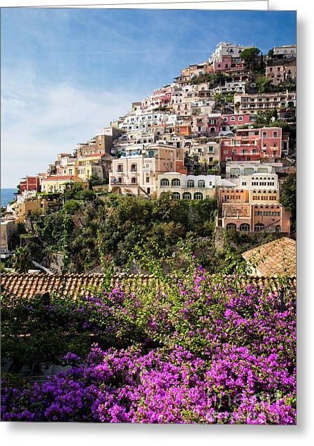 Greeting Card featuring the photograph Hills Of Positano by Scott Kemper