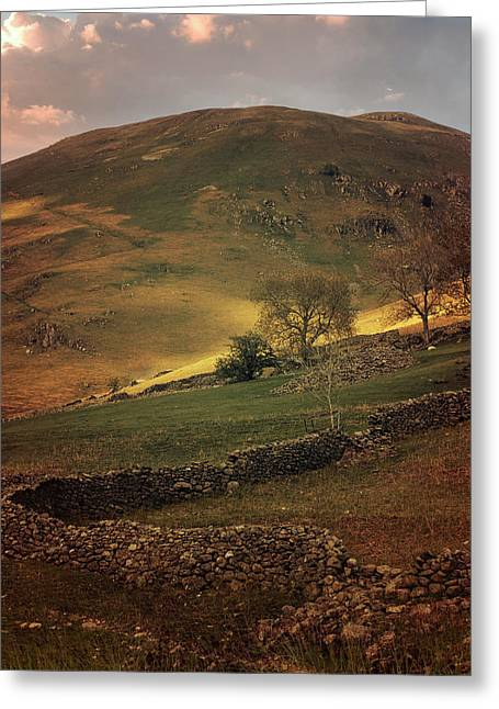 Hills Of Scotland At The Sunset Greeting Card by Jaroslaw Blaminsky
