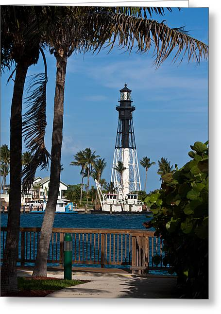 Hillsboro Inlet Lighthouse And Park Greeting Card
